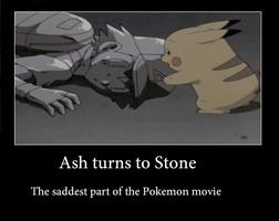 Ash turns to Stone (Ash's Death) by PuddingzWolf