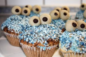 Cookiemonster Cupcakes by SianaLee