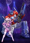 Jem and Optimus Prime by raya