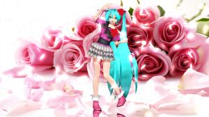 MMD DT Elegant Rose Miku  finished ! + DL by LenMJPU
