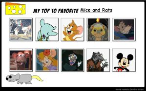 My Top 10 Favorite Mice and Rats by SithVampireMaster27