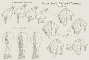 Avalkre War Horse Styles by ReaWolf