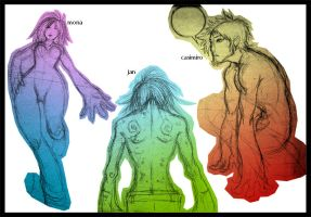 rainbow sketches by Joyker