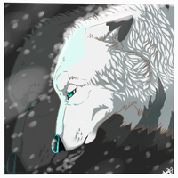 *Caught In A Snowstorm* by Apwolf