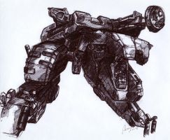 Metal Gear Rex Final Sketch by SolidAlexei