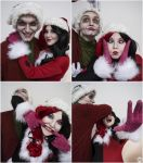 Harley Quinn and Joker (Christmas version) 11 by ThePuddins