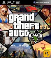 Grand Theft Auto V Cover Art by SquizCat