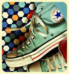 Retro Blue Chucks by Krapivka2007
