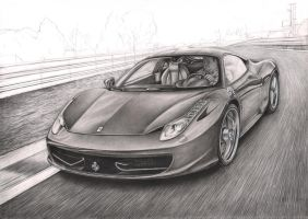'Ferrari 458 Italia' WIP nearly finished by Pen-Tacular-Artist