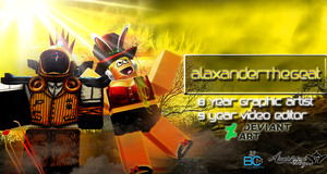 [Gaming] New ROBLOX Thumbnail- Alaxander and Carly by BCMmultimedia