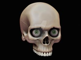Another angle - Skull Study by Vladracs