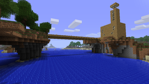 Bridge over the river by chikabow