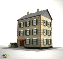3d building model 1 by AndexDesign