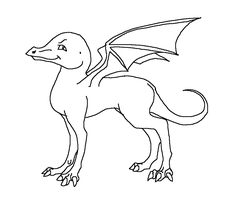 Free to use cartoon dragon base by Hippie30199