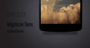 Simplicity Widgetlocker Theme by BrainChecker