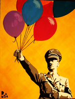 Adolf and balloons by NuclearBeam