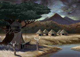 African Village by Anubiscomics