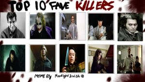 My To 10 Movie Killers by Normanjokerwise