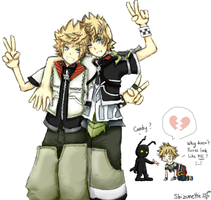 Kingdom Hearts - Roxas looks like Ventus by Shizunette