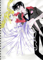 Usagi and Mamoru by AndromedaKnight