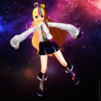 MMD The Galaxy Girl and a tale about shoes ... by Trackdancer