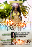 Beach Party Flyer by DeityDesignz