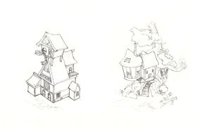 Derpy's House and Post Office by Simbaro