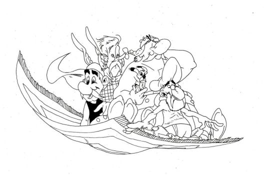 asterix and the magic carpet recreation page ink by Harryboy755