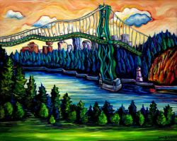 Lion's Gate Bridge by Laurazee