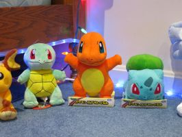 First Gen Pokemon Starter Plushies! by gold94chica
