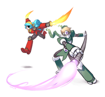 Commission: Rockman OCs by lexxercise