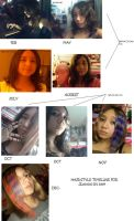 my hair styles timeline 2009 by JL010203