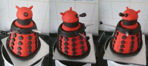 Dalek Cake - Multiple view by Rebeckington