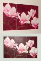 Magnolias by Sheharzad-Arshad