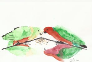 King Parrot by ArchaicMosaic