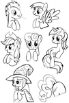 Pocket Pony Coloring Sheet II by OceanBreezeBrony