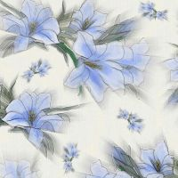 Blue Canvas Flowers by amerianna