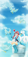 Skyla, swanna and ducklett by chikorita85