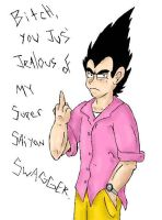 Vegeta's Saiyan Swagger. by SaintsSister47