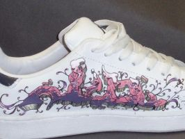 graffiti shoes purple design by sirius06