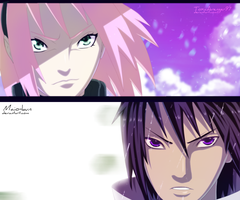 Naruto 632 - Sasuke and Sakura ready for battle by Maio-kun