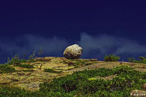 Bubble Rock - At Acadia National Park, ME by JDM4CHRIST