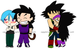 Two Chibi Couples by Sapphire-Kinigiht