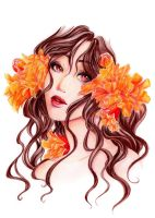 - Persephone - Pomegranate Flower - by ooneithoo