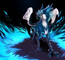 Flames of Blue by Renciel