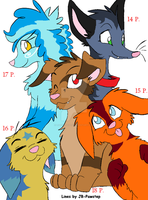 Puppy friends adoptables by LizzysAdopts