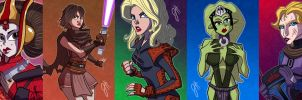 Women of Star Wars - Part II by JoeHoganArt