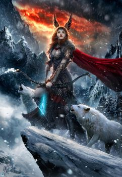 Skadi Goddess of North by DusanMarkovic