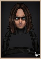 Bucky the Winter Soldier by togigata