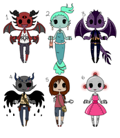 Adoptables #14 ~ [CLOSED] by HaileyWailey